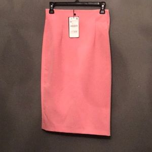 NWT bright pink Zara skirt